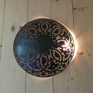 Michelle sourced this punched-tin fixture from an eBay seller in Egypt (where she and Stephen spent a day on their honeymoon).