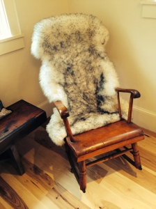 This beautiful rocker from Michelle's maternal grandfather's ancestors now graces the new space.